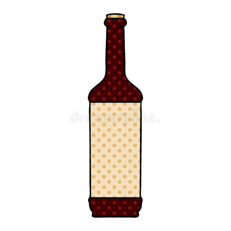 Quirky comic book style cartoon wine bottle. A creative illustrated quirky comic book style cartoon wine bottle royalty free illustration