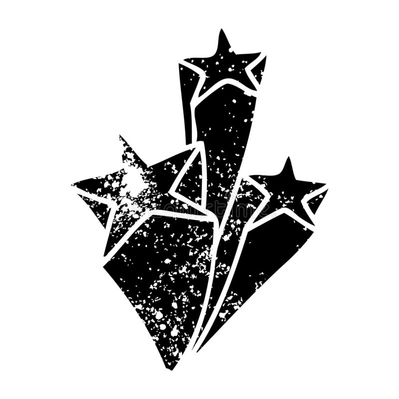 Quirky distressed symbol stars. A creative illustrated quirky distressed symbol stars vector illustration
