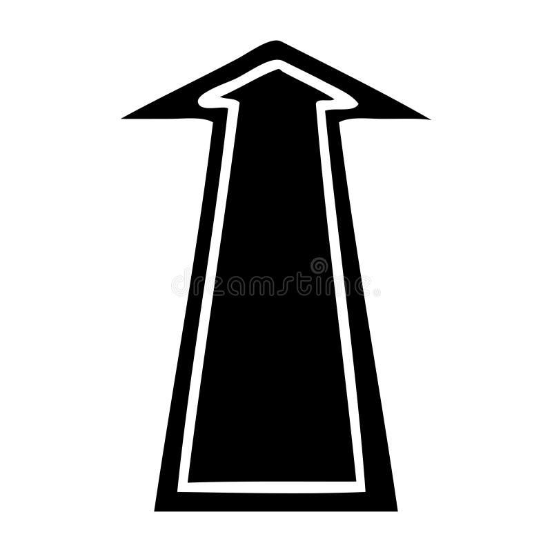 Quirky flat symbol arrow. A creative illustrated quirky flat symbol arrow royalty free illustration