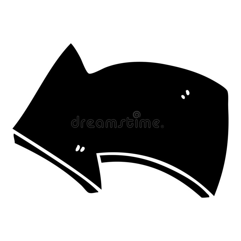Quirky flat symbol arrow. A creative illustrated quirky flat symbol arrow vector illustration