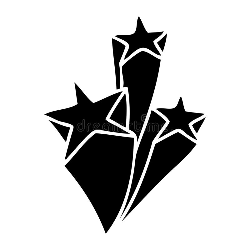 Quirky flat symbol stars. A creative illustrated quirky flat symbol stars stock illustration