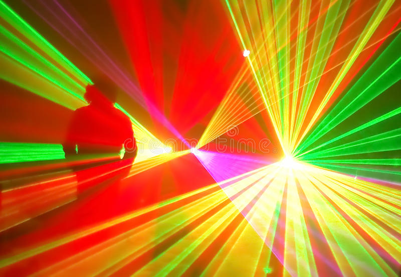 Quirky light effect it. stock image