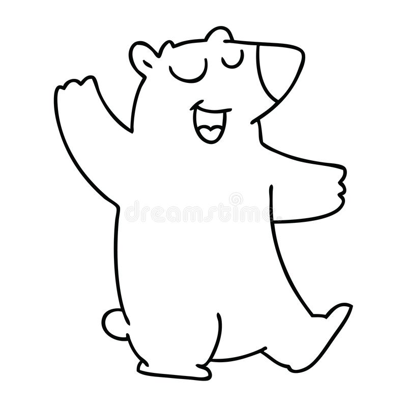 Quirky line drawing cartoon wombat. A creative illustrated quirky line drawing cartoon wombat vector illustration