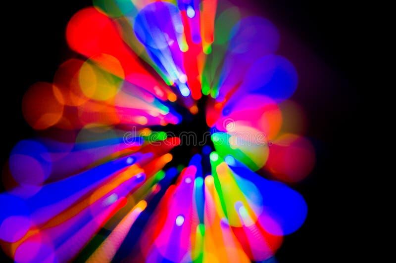 Quirlandes électriques colorées photo libre de droits