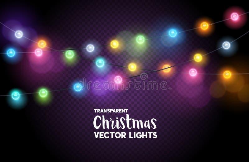 Quirlandes électriques de Noël illustration stock