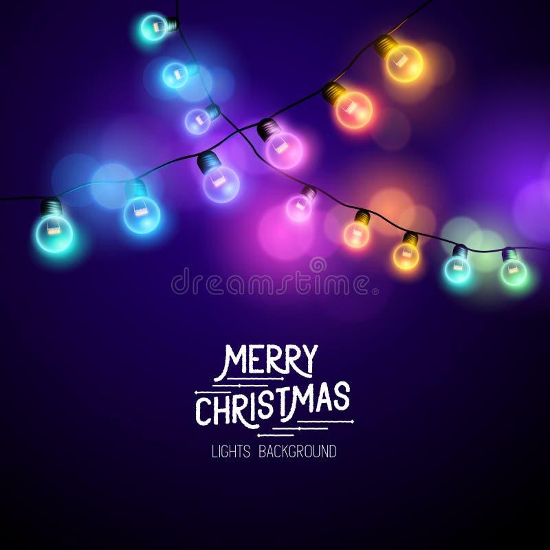 Quirlandes électriques de Noël illustration libre de droits
