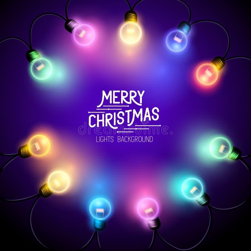 Quirlandes électriques de Noël illustration de vecteur