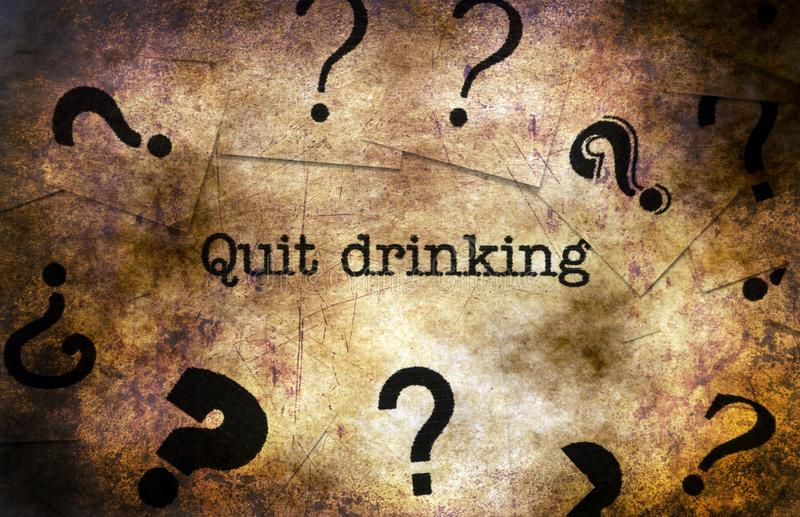 Quit drinking grunge concept stock images