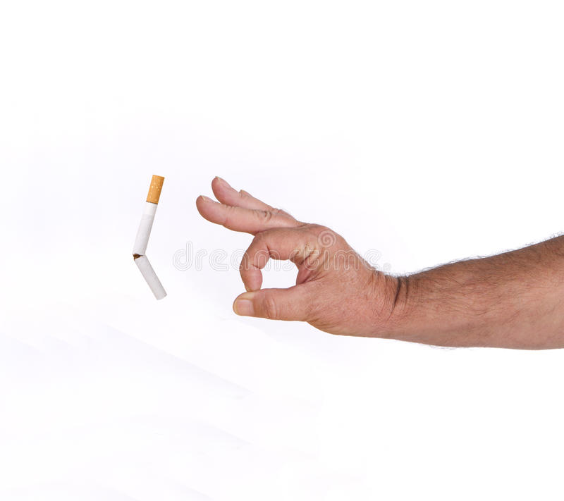 Quit and Flick the habit stock photo