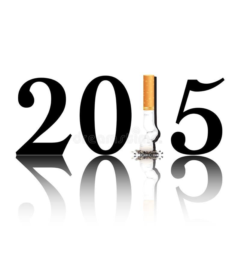 Quit que fuma 2015 ilustración del vector