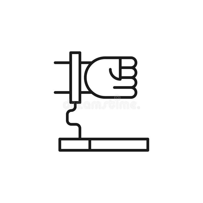 Quit que fuma, afecto para el icono de los cigarrillos Elemento de abandonado el fumar del icono L?nea fina icono para el dise?o  ilustración del vector