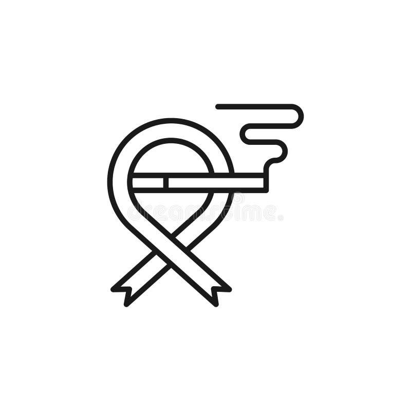 Quit que fuma, icono del c?ncer Elemento de abandonado el fumar del icono L?nea fina icono para el dise?o y el desarrollo, desarr libre illustration