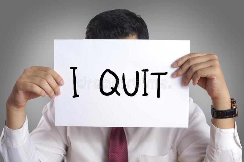 Quit Resign Employee Concept stock images