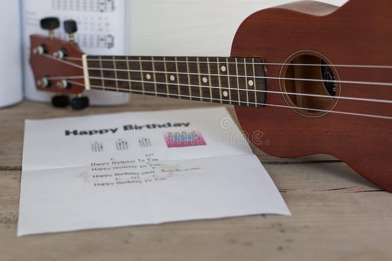 Quitar lub ukulele zdjęcia royalty free