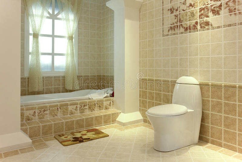 Download Quite bathroom stock image. Image of archaize, mosaic - 12573665