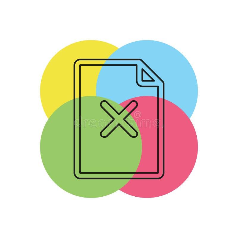 Quite el icono de documento ilustración del vector