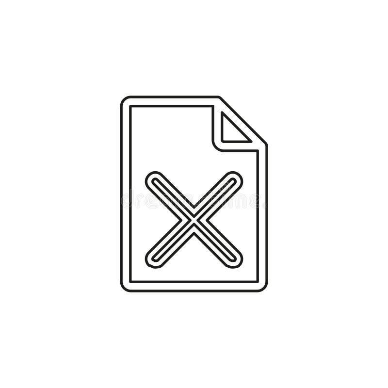 Quite el icono de documento - vector stock de ilustración