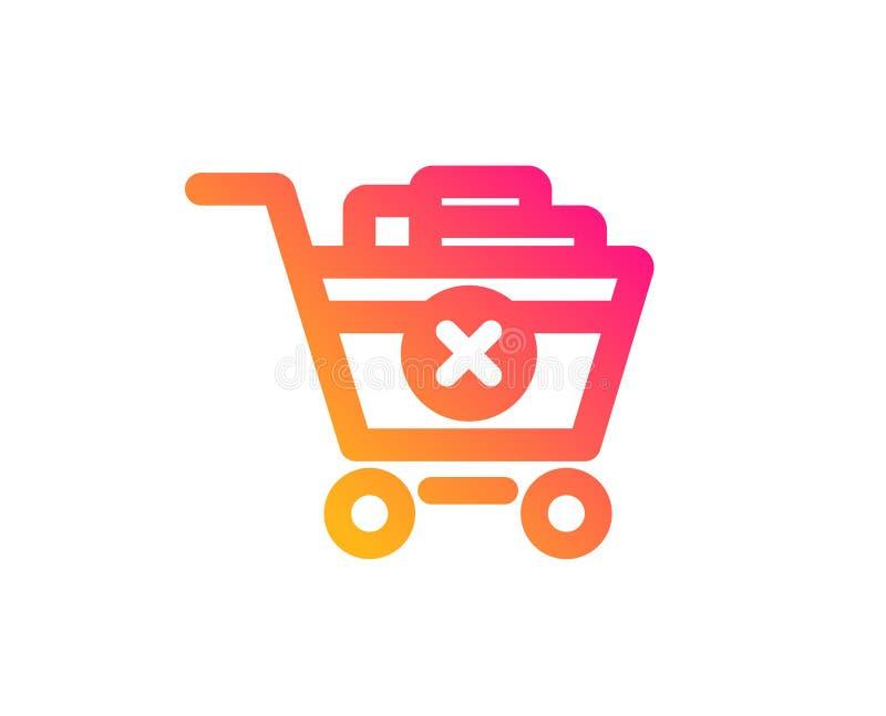 Quite el icono del carro de la compra Compra en l?nea Vector stock de ilustración