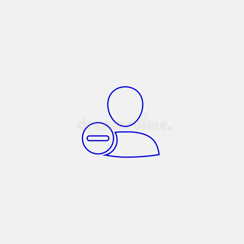 Quite el icono del usuario stock de ilustración