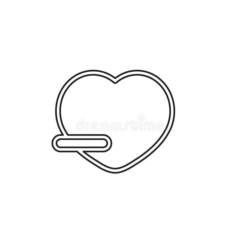 Quite el icono del vector del amante stock de ilustración
