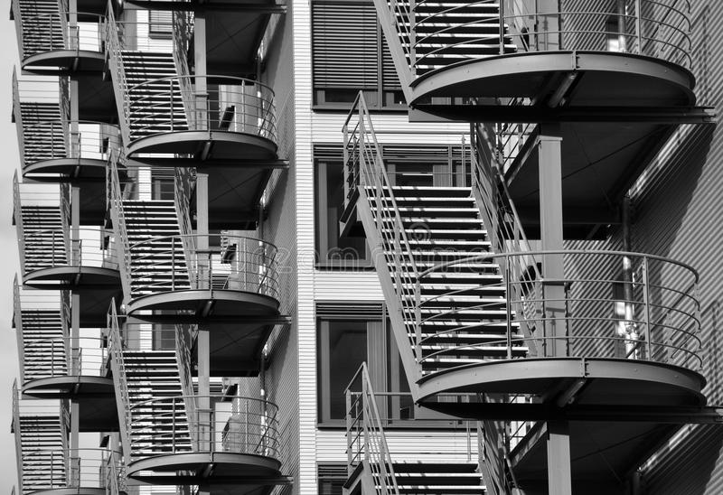 Quite a lot of fire escape royalty free stock photos