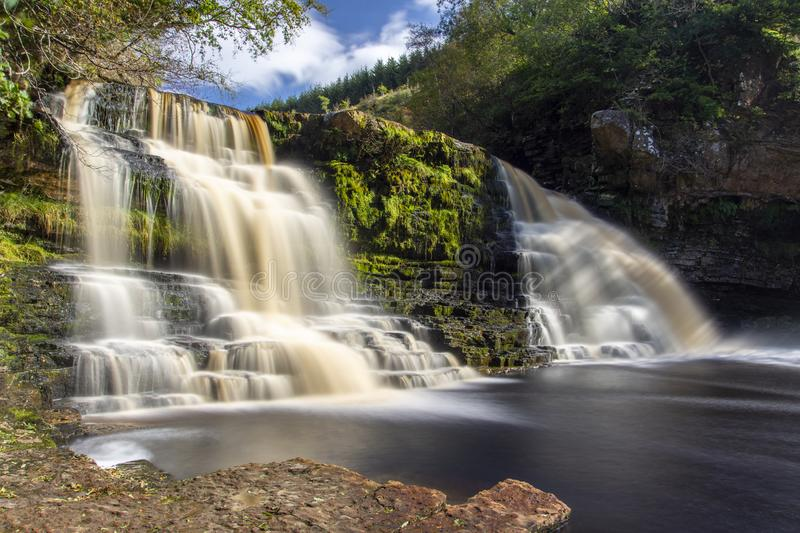 Crammel Linn Waterfall in Northumberland royalty free stock photography
