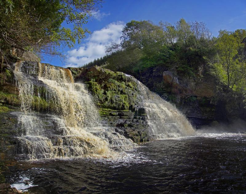 Crammel Linn Waterfall in Northumberland royalty free stock photo