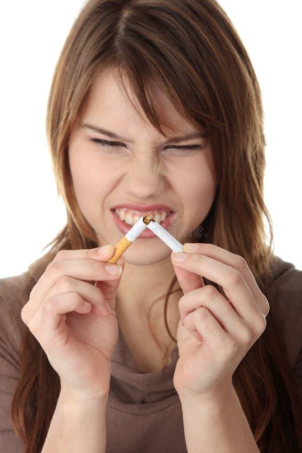 Quiting Rauchen stockfotos