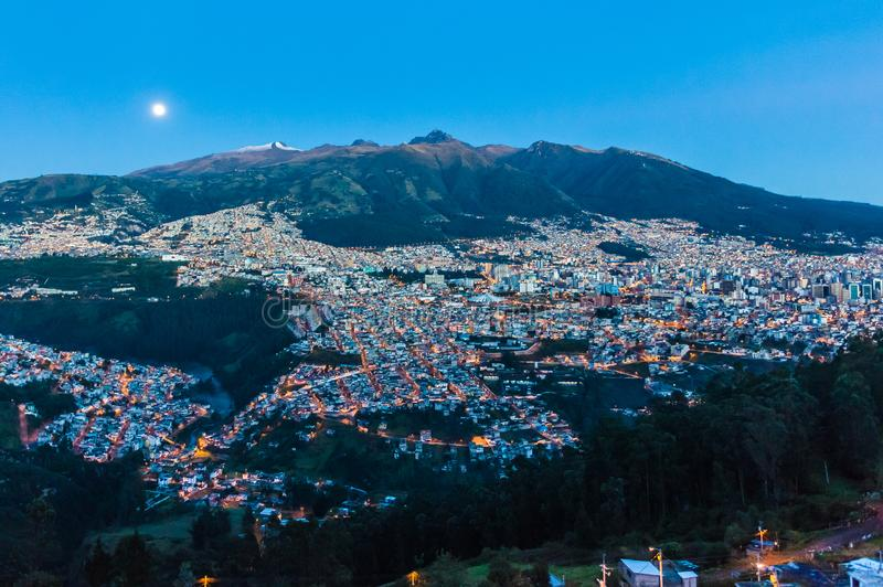 Quito, capitale de l'Equateur images libres de droits