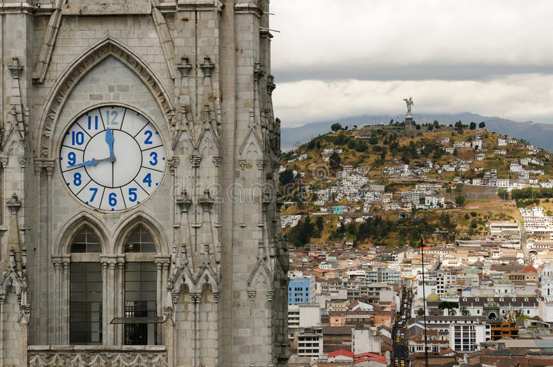 Quito, capitale de l'Equateur image stock