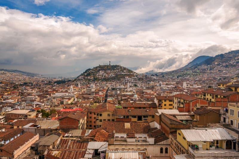 Quito Cityscape arkivfoto