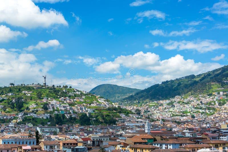 Quito, Cityscape van Ecuador stock fotografie