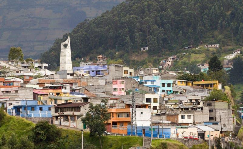 Quito, Ecuador. View of some houses of Quito, Ecuador royalty free stock image