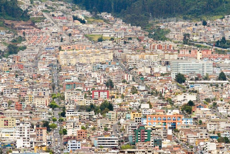Quito, Ecuador. View of some houses of Quito, Ecuador royalty free stock images