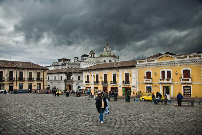 Plaza San Francisco in Quito,Ecuador royalty free stock image