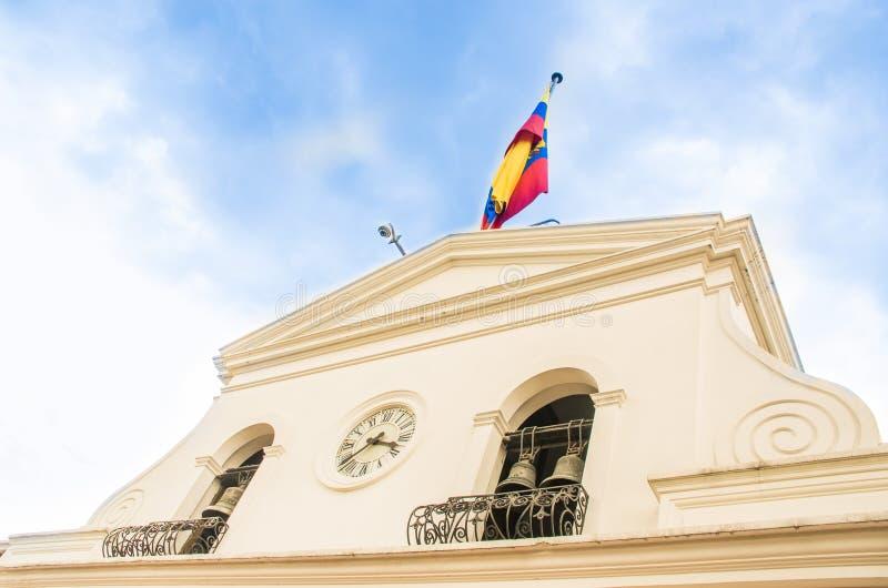 QUITO, ECUADOR, ENERO, 11 - 2018: El palacio de Carondelet es el asiento del gobierno de la República de Ecuador, localizada aden imágenes de archivo libres de regalías