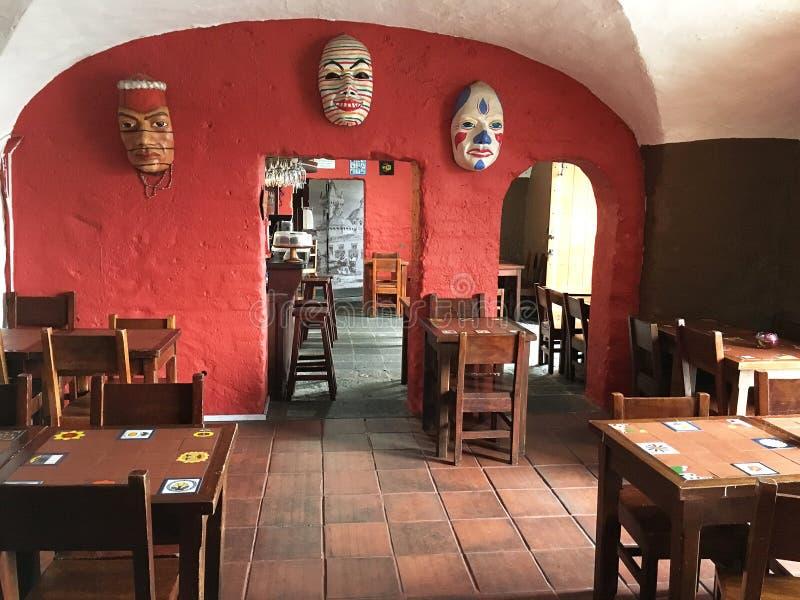 San Francisco Monastery Cafe Quito Ecuador stock photo
