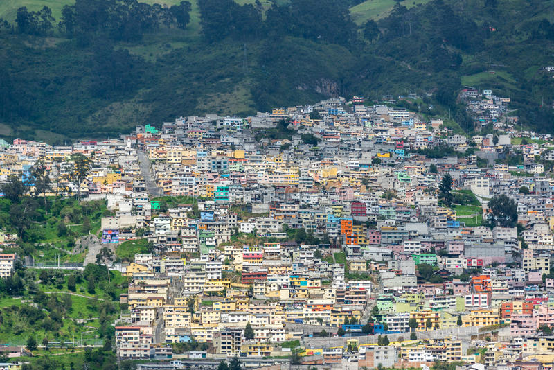 Quito Ecuador grannskap arkivbild