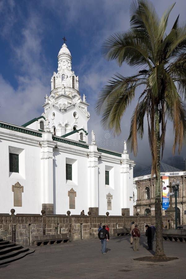 Quito - El Sagrario - Ecuador arkivfoto
