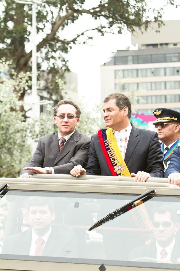 Quito, EQUATEUR le 24 mai : Défilé militaire national photo stock