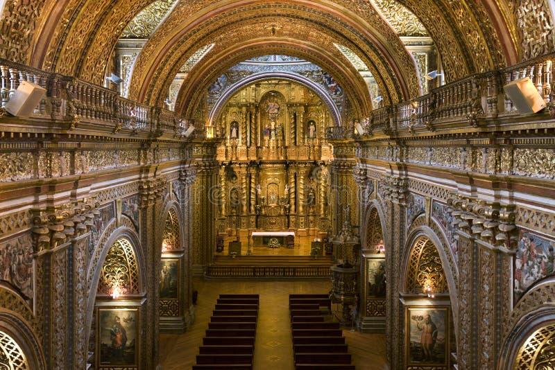 Quito - igreja do jesuíta de Compania do La - Equador fotos de stock royalty free