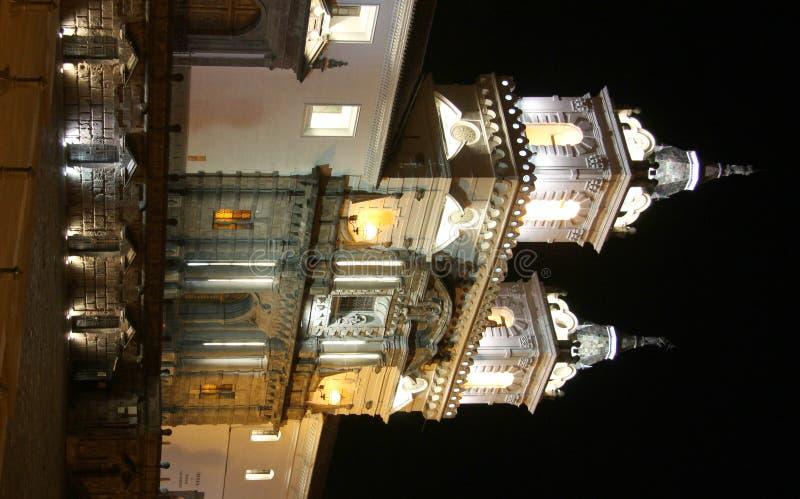 Quito na noite fotografia de stock