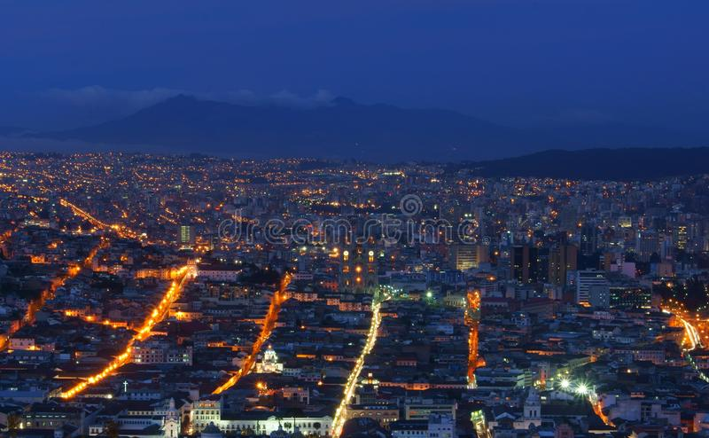 Quito at Night stock images