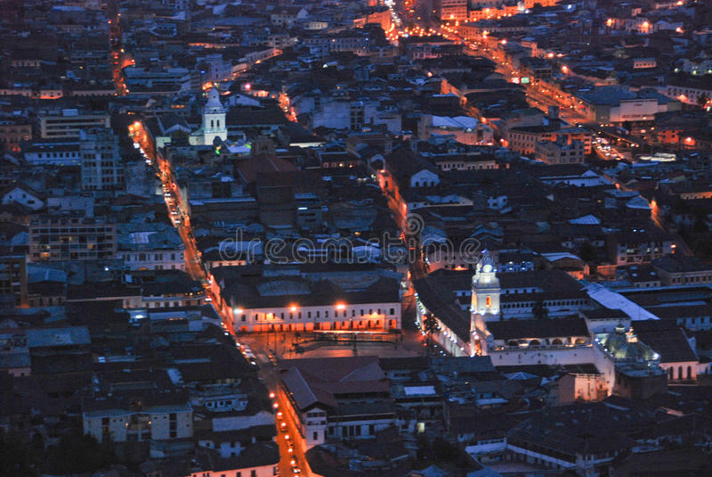 Quito at night royalty free stock photos