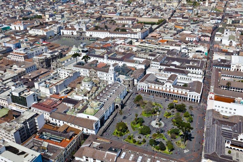 Quito, plaza grande y San Francisco fotos de archivo libres de regalías