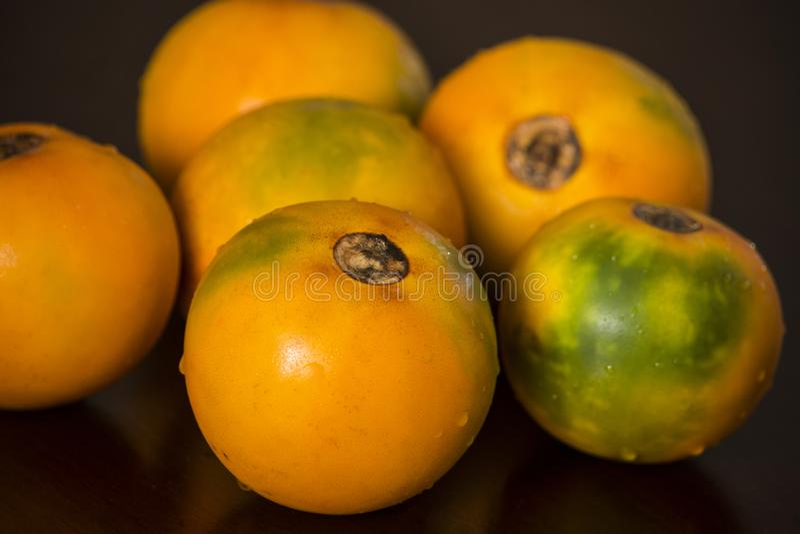 Quitoense Solanum тропического плодоовощ Lulo стоковое фото rf