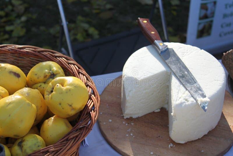 Quitte und Käse stockfotos