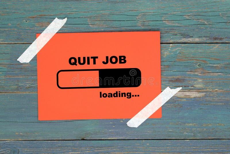 Quitter le chargement du travail sur papier illustration stock