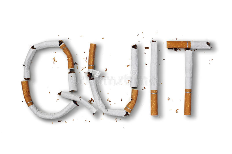 Quittez l'image contre le tabac rendue par Smoking photo libre de droits