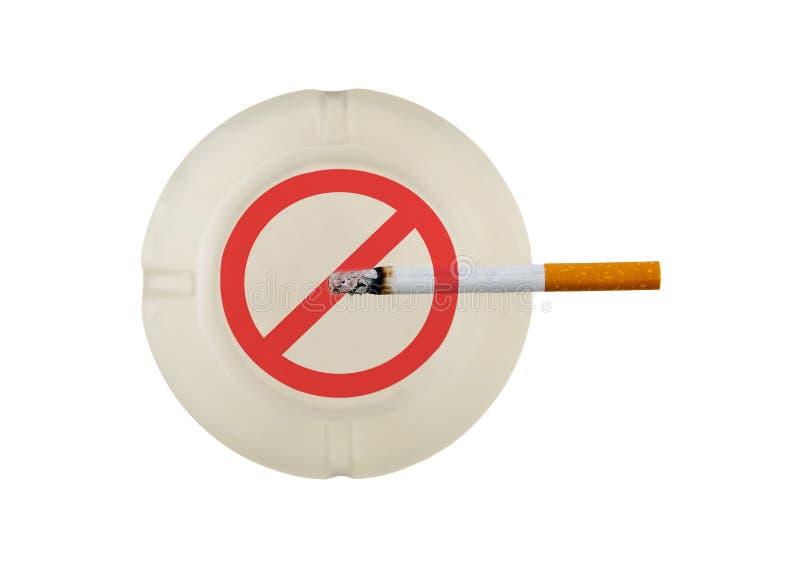 Quitting Smoking,. Quitting the bad habit of smoking cigarettes royalty free stock photos